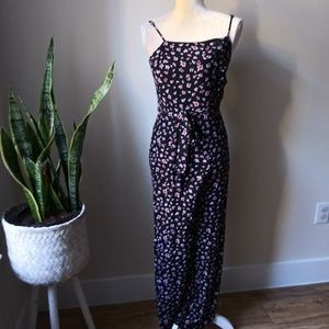 Wild Fable Belted Floral Jumpsuit romper S